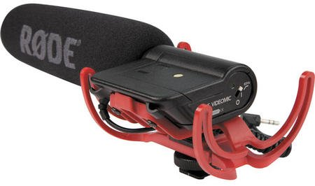 Rode Videomic with Rycote Lyre shock mount suspension